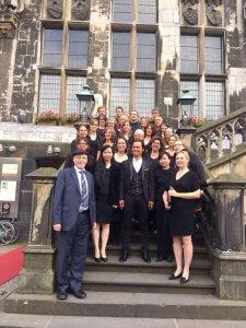 Chorbiennale 2017 zusammen mit dem Aachener Rabbiner Bohrer